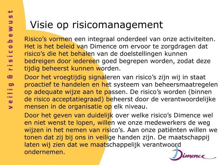 Visie op risicomanagement