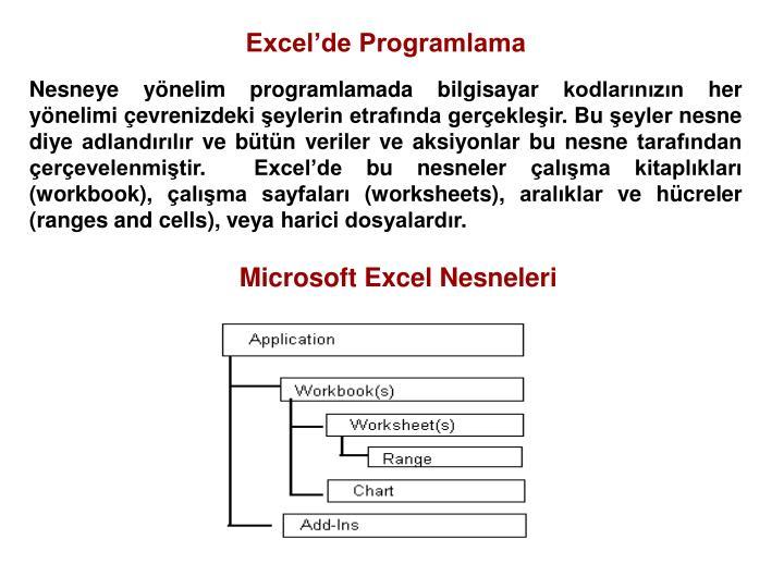 Excel'de Programlama