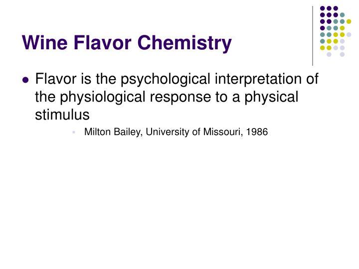 Wine flavor chemistry