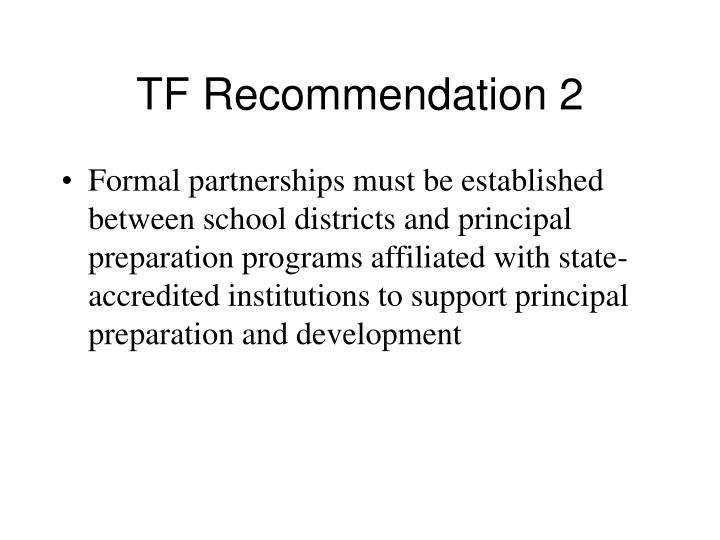TF Recommendation 2