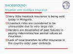 background situation with livestock insurance