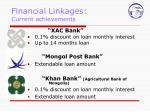 financial linkages current achievements