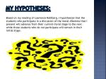 my hypotheses