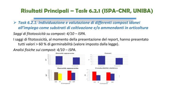Risultati Principali – Task 6.2.1 (ISPA-CNR, UNIBA)