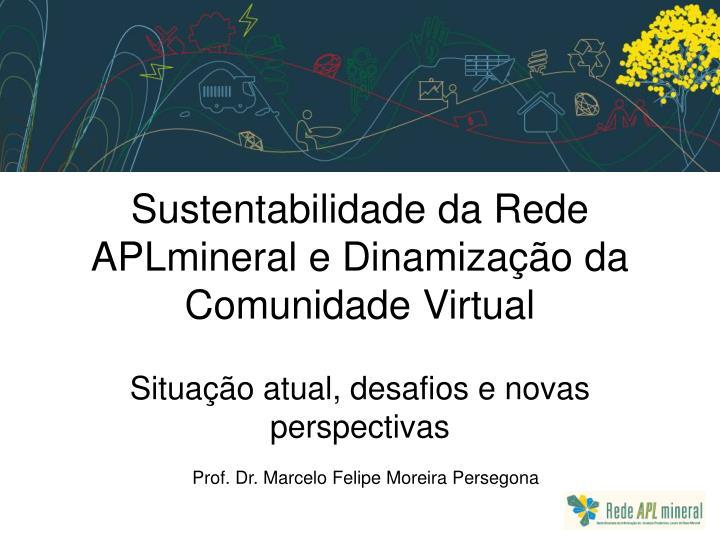 sustentabilidade da rede aplmineral e dinamiza o da comunidade virtual n.