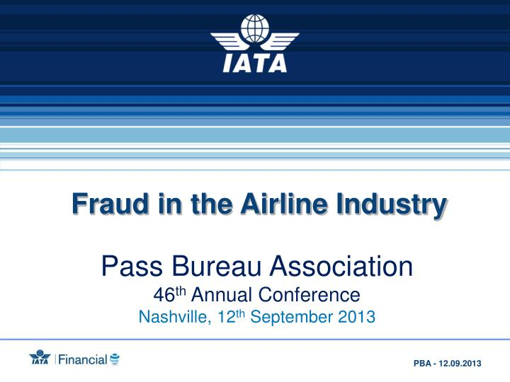 Fraud in the Airline Industry