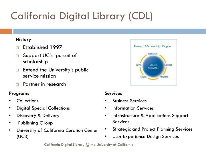 California digital library cdl