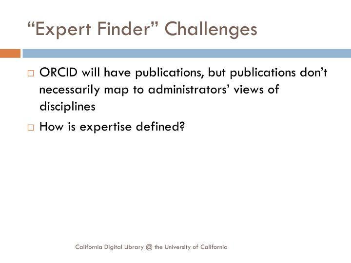 """Expert Finder"" Challenges"