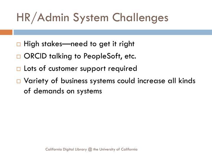 HR/Admin System Challenges