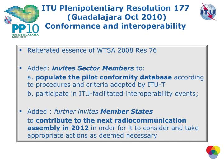 ITU Plenipotentiary Resolution 177