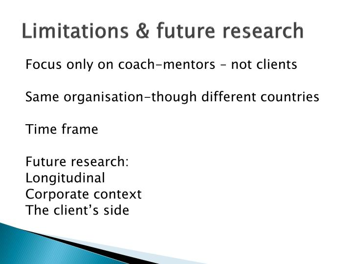 Limitations & future research