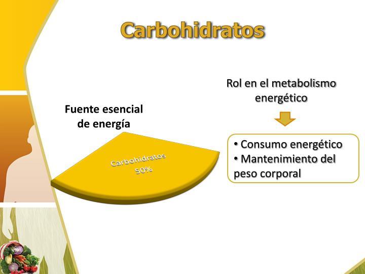 Rol en el metabolismo energético