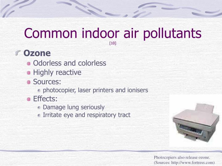 Common indoor air pollutants