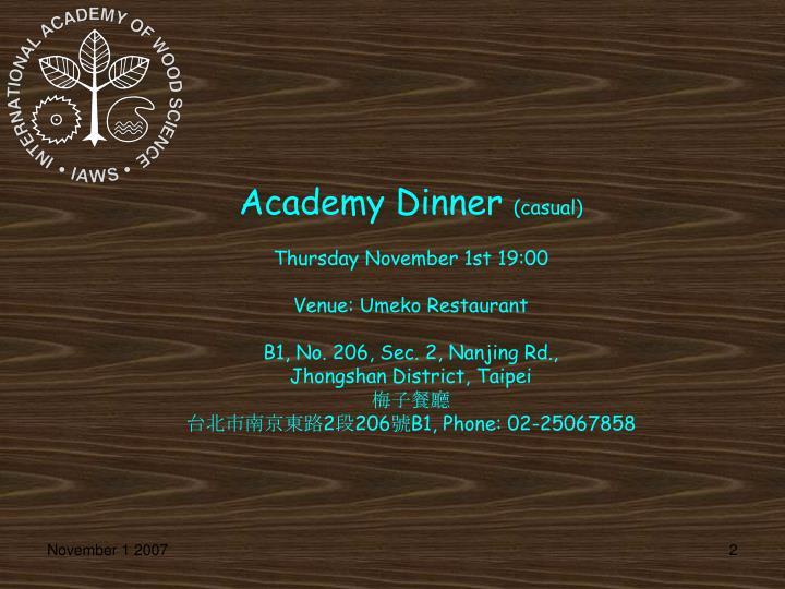 Academy Dinner