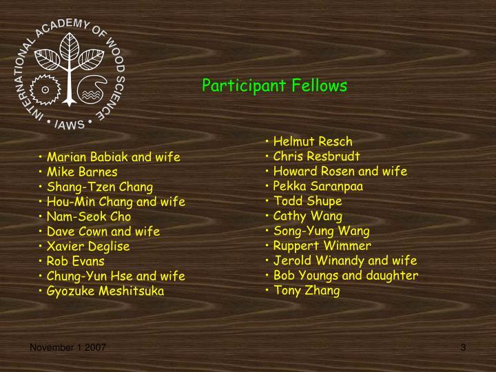 Participant Fellows