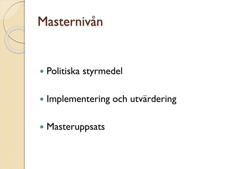 Masternivån