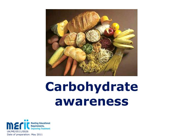 carbohydrate awareness n.
