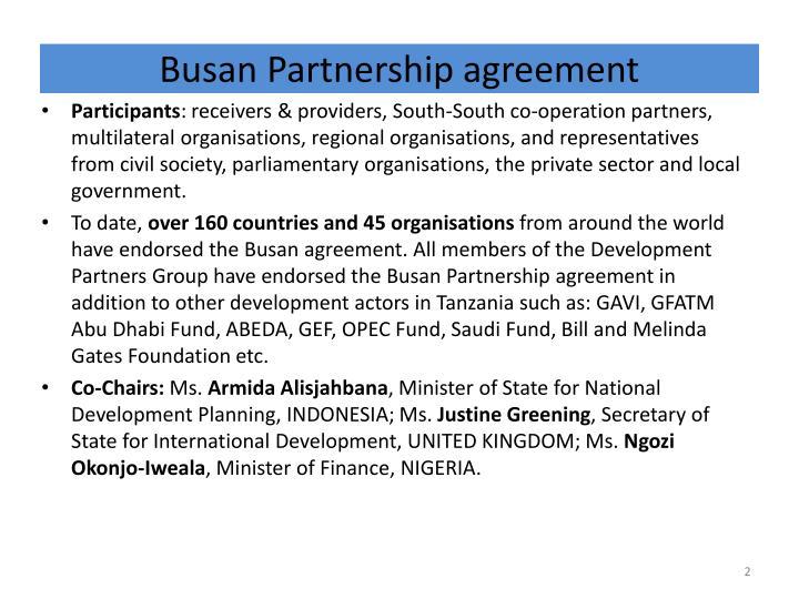 Busan partnership agreement