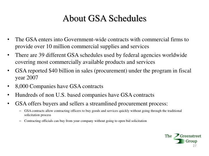 About GSA Schedules