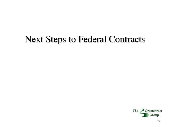 Next Steps to Federal Contracts