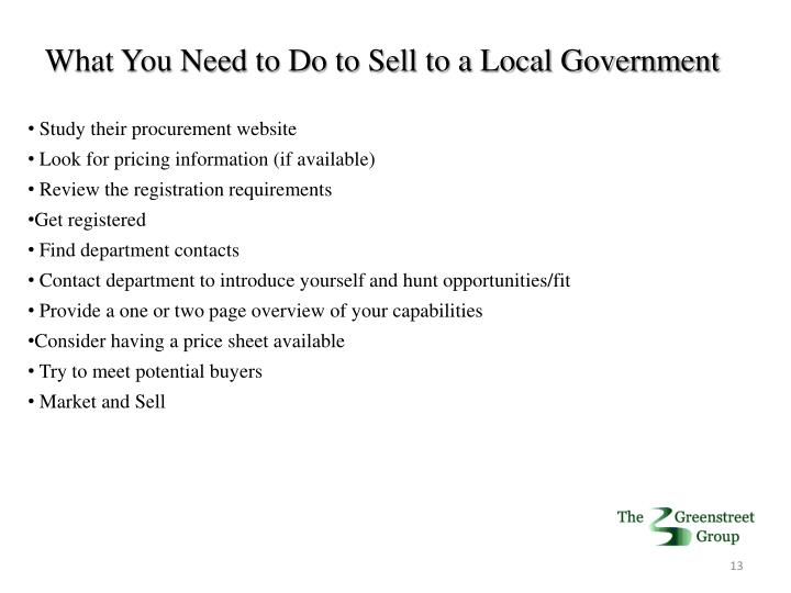 What You Need to Do to Sell to a Local Government