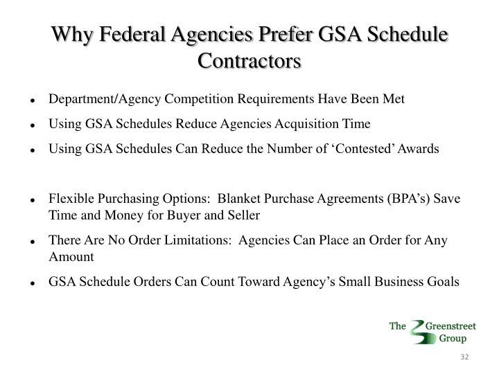 Why Federal Agencies Prefer