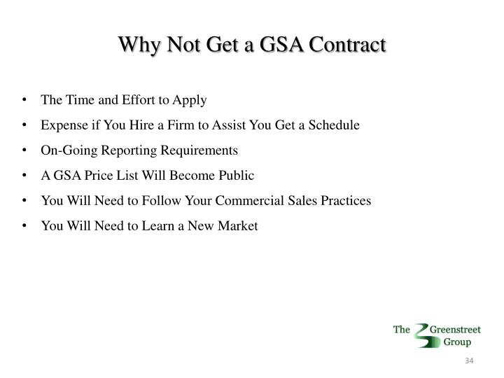 Why Not Get a GSA Contract