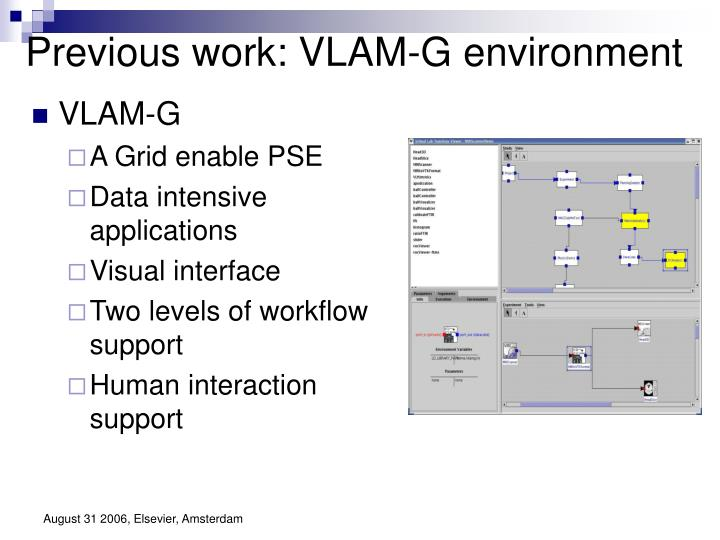 Previous work: VLAM-G environment