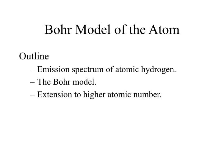 Ppt Bohr Model Of The Atom Powerpoint Presentation Id3509430
