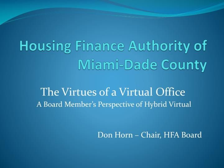 housing finance authority of miami dade county n.