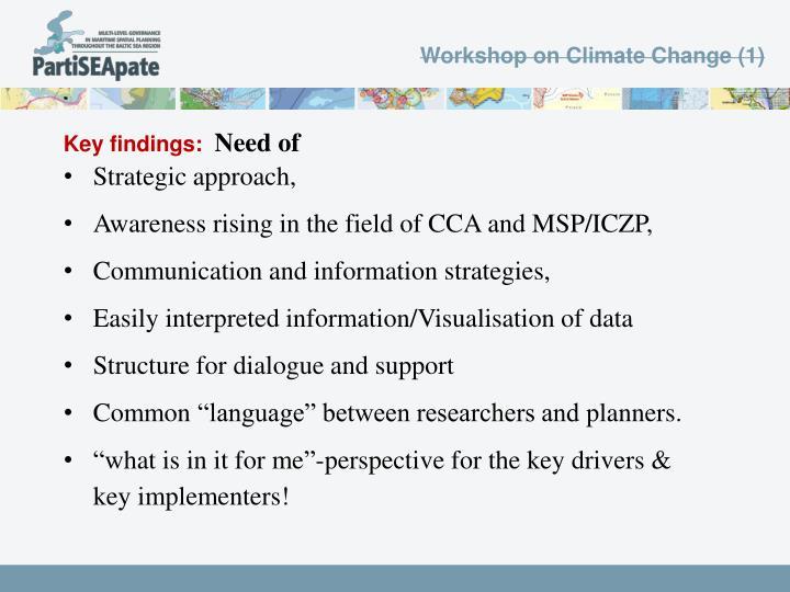 Workshop on Climate Change (1)