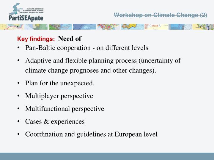 Workshop on Climate Change (2)