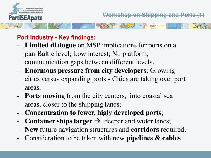 Workshop on Shipping and Ports (1)