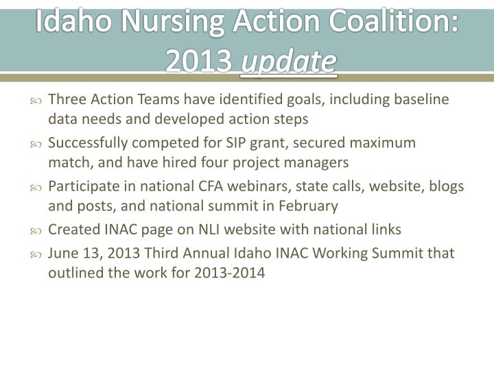 Idaho Nursing Action Coalition: