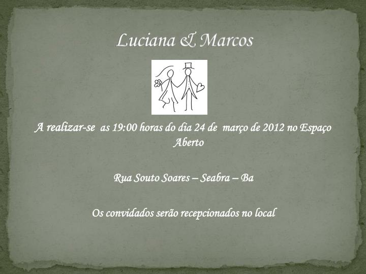 Luciana marcos