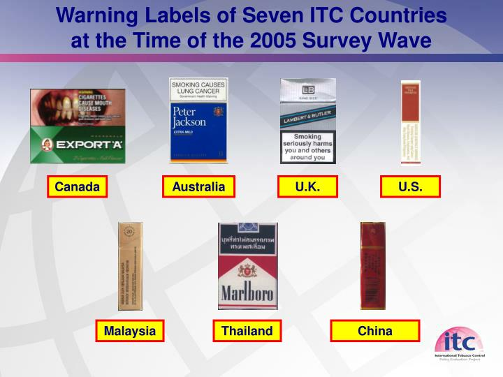 Warning Labels of Seven ITC Countries