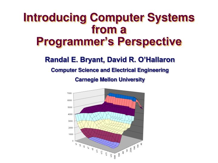 introducing computer systems from a programmer s perspective n.