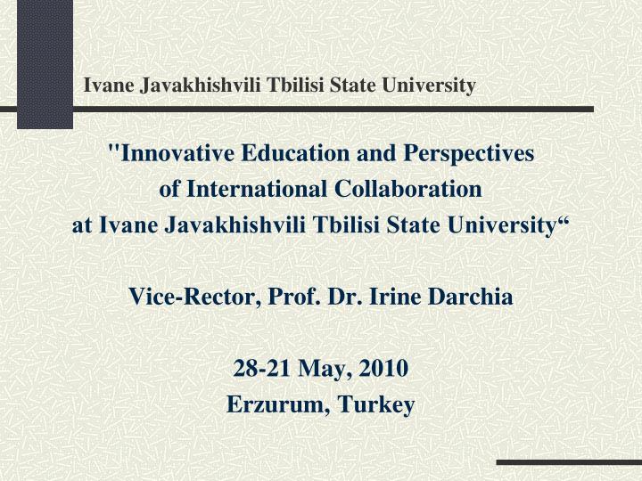 ivane javakhishvili tbilisi state university n.