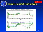 cloud cleared radiances