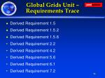 global grids unit requirements trace