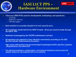 iasi l1ct pps hardware environment