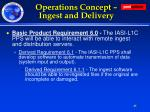 operations concept ingest and delivery