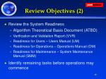 review objectives 2
