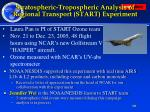 stratospheric tropospheric analysis of regional transport start experiment