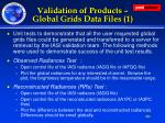 validation of products global grids data files 1