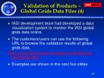 validation of products global grids data files 4