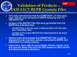 validation of products iasi l1ct bufr granule files