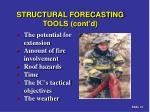 structural forecasting tools cont d