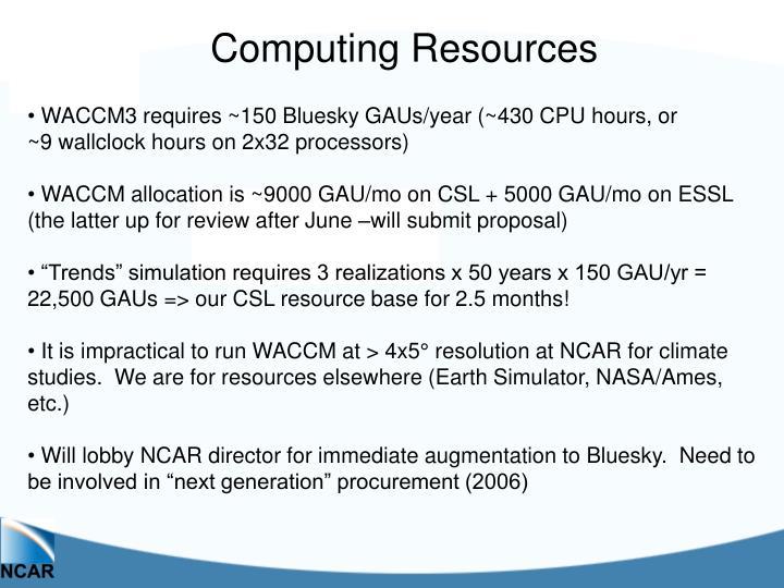 Computing Resources