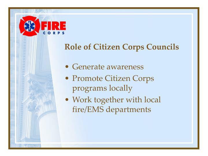 Role of Citizen Corps Councils